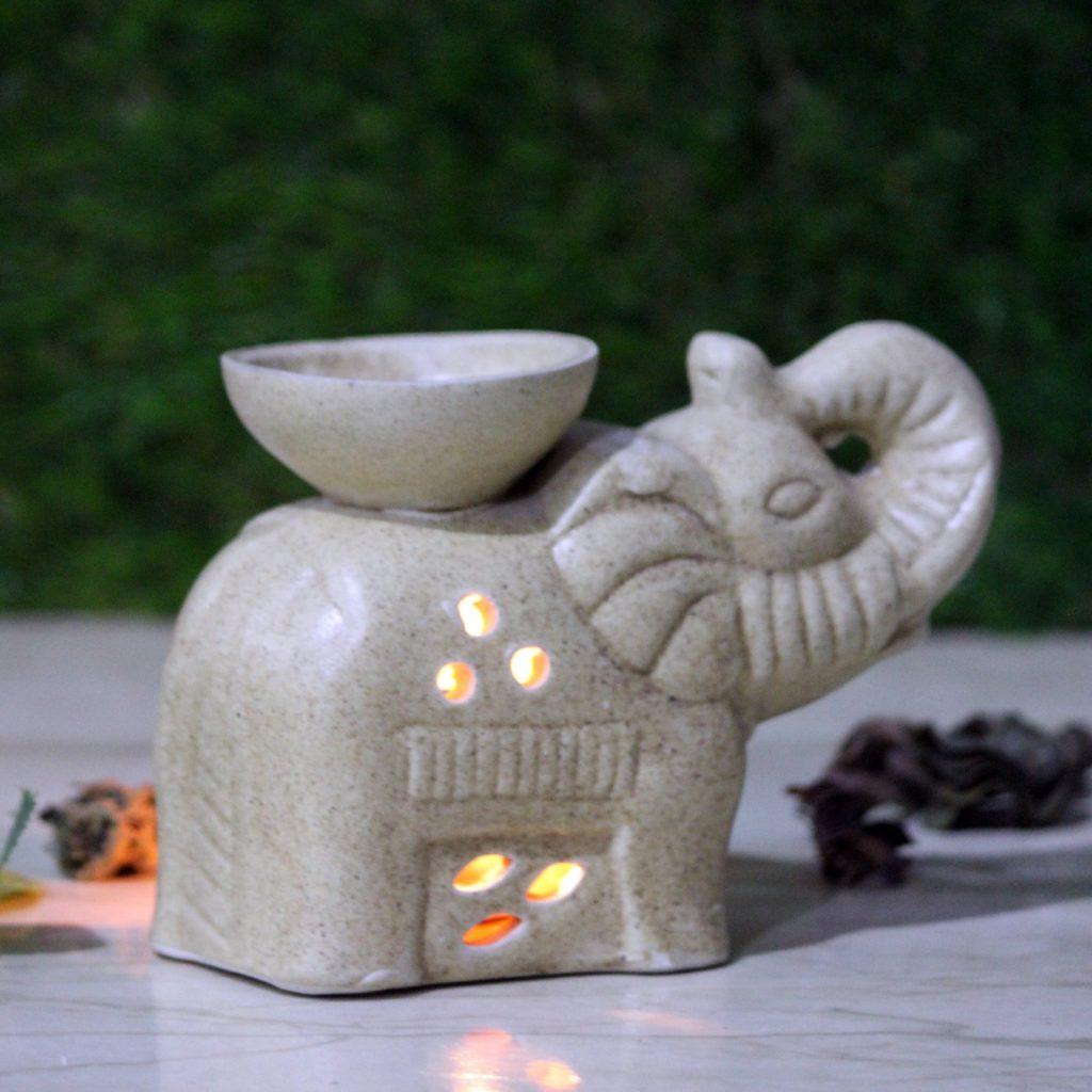 Ceramic Hathi Elephant Indian royal craft aroma diffuser
