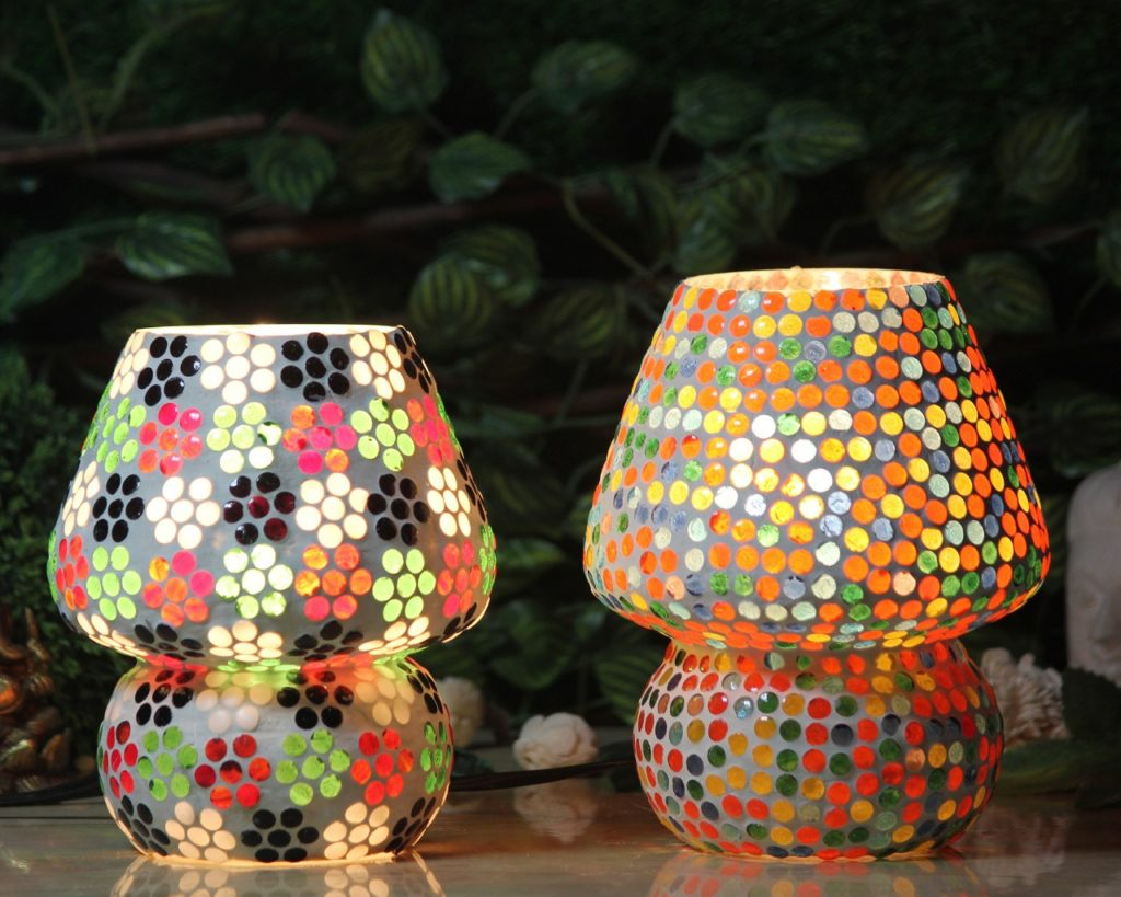 Glass Mosaic Table Lamp-2