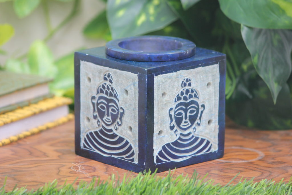 Candle Soapstone Marble Oil Diffuser | Indian Royal Crafts | Brahmz