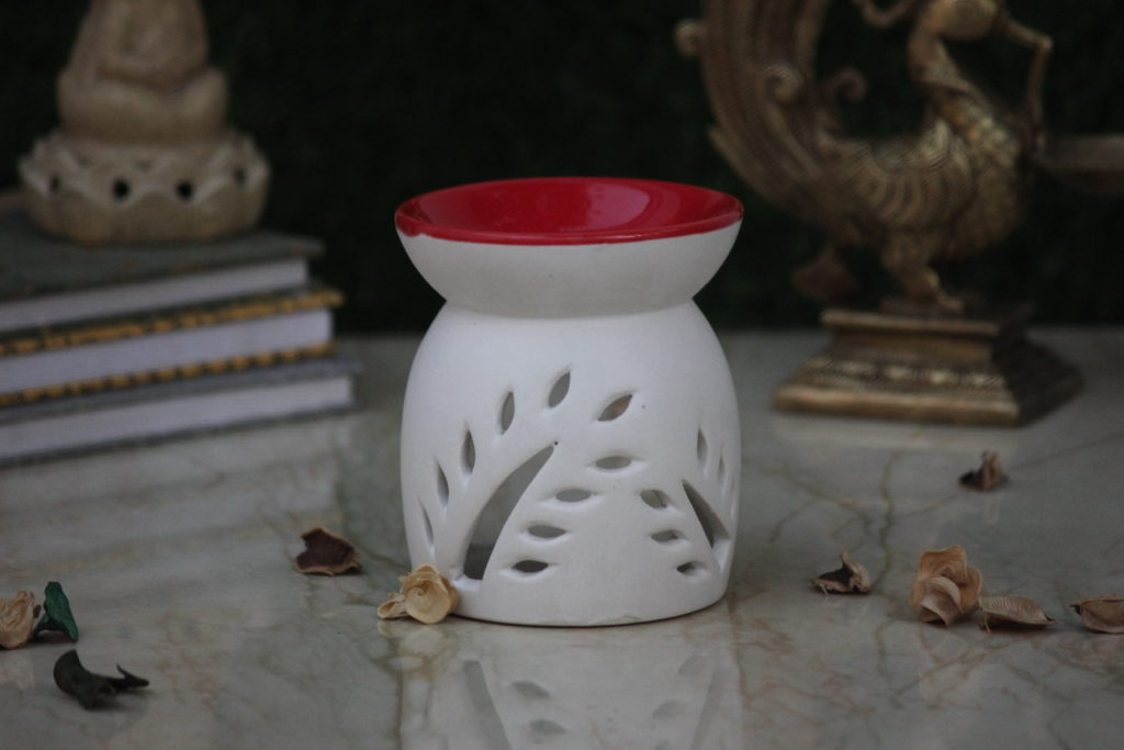 Candle Ceramic Oil Diffuser   Indian Royal Crafts   Brahmz