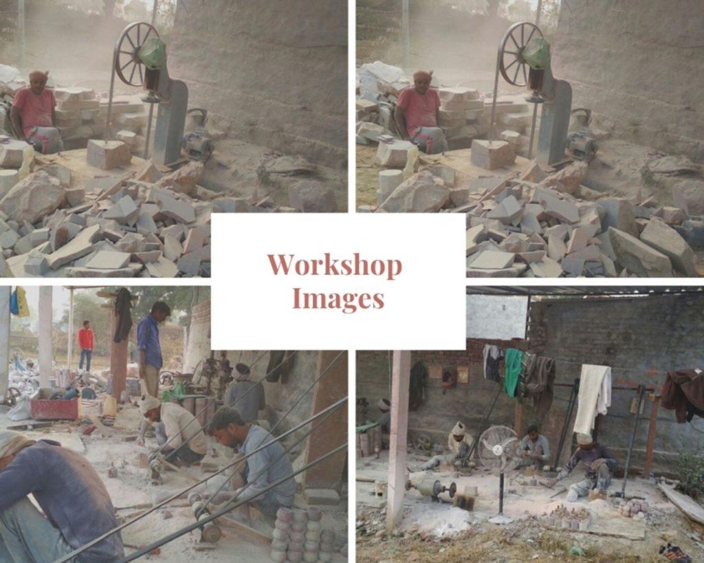 Indian Royal Crafts | Brahmz | Workshop Images | Soapstone | Marble | Oil Diffuser