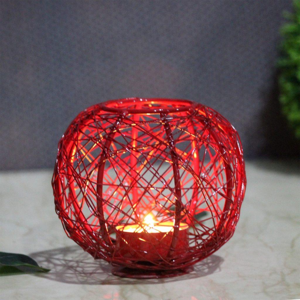 Mesh Metal Iron Candle Votive  Indian Royal Crafts   Brahmz