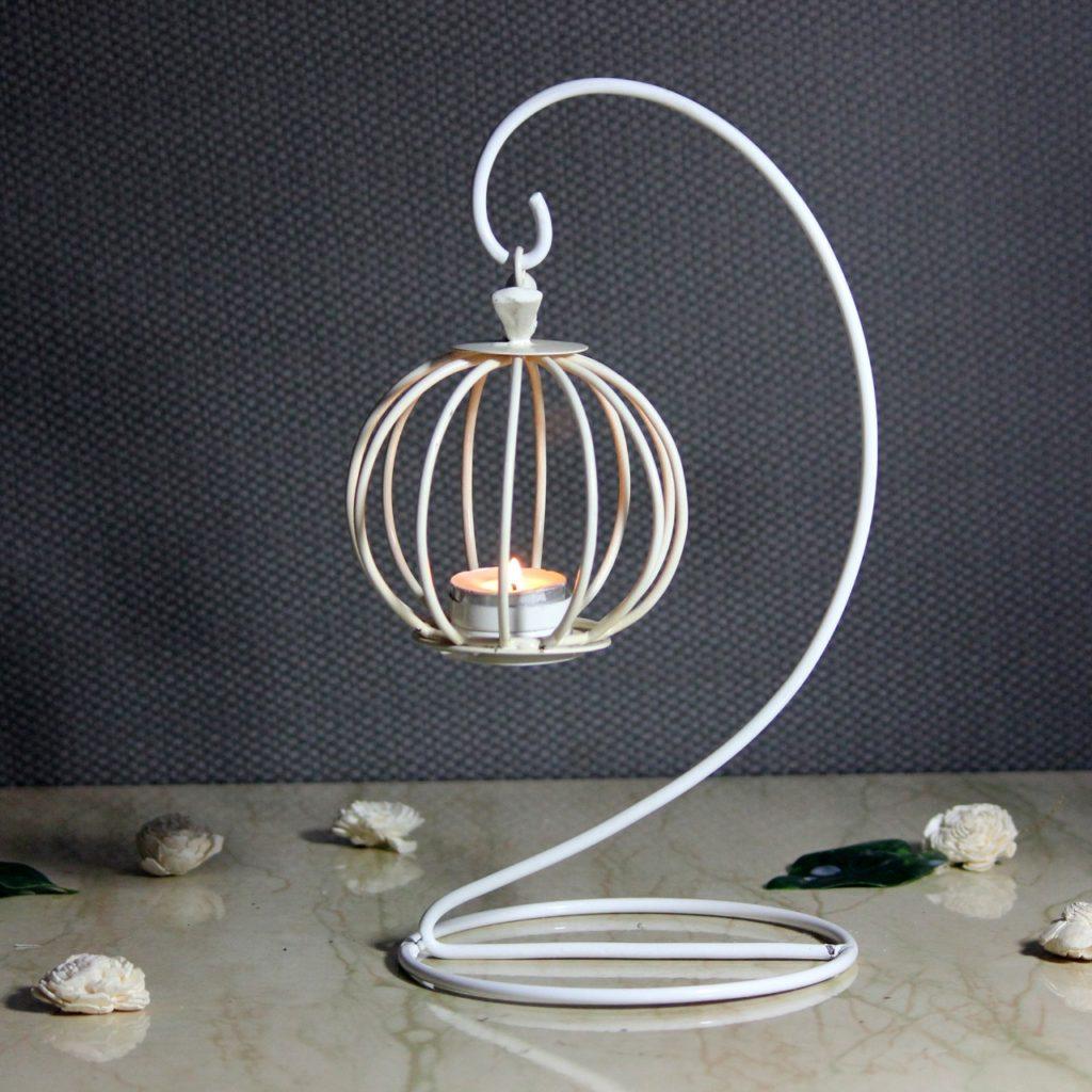 Bird Cage Metal Iron Candle Votive  Indian Royal Crafts   Brahmz