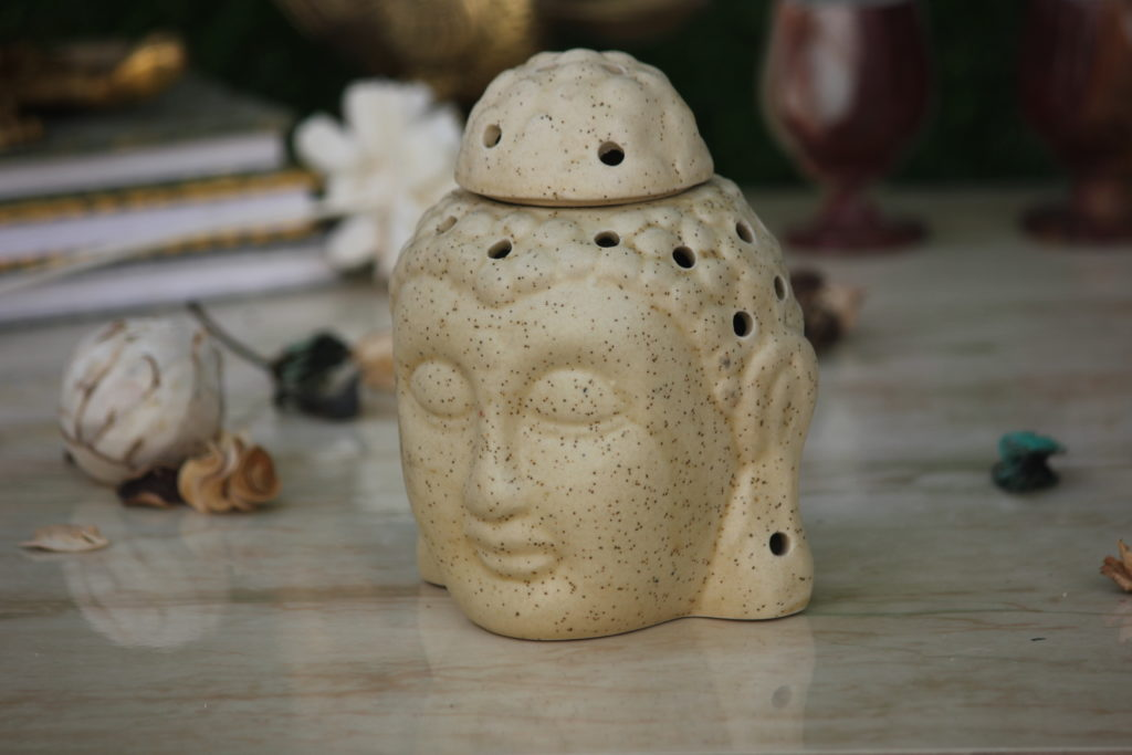 Buddha 5.5Inch Beige Ceramic Aroma Oil DIffusers