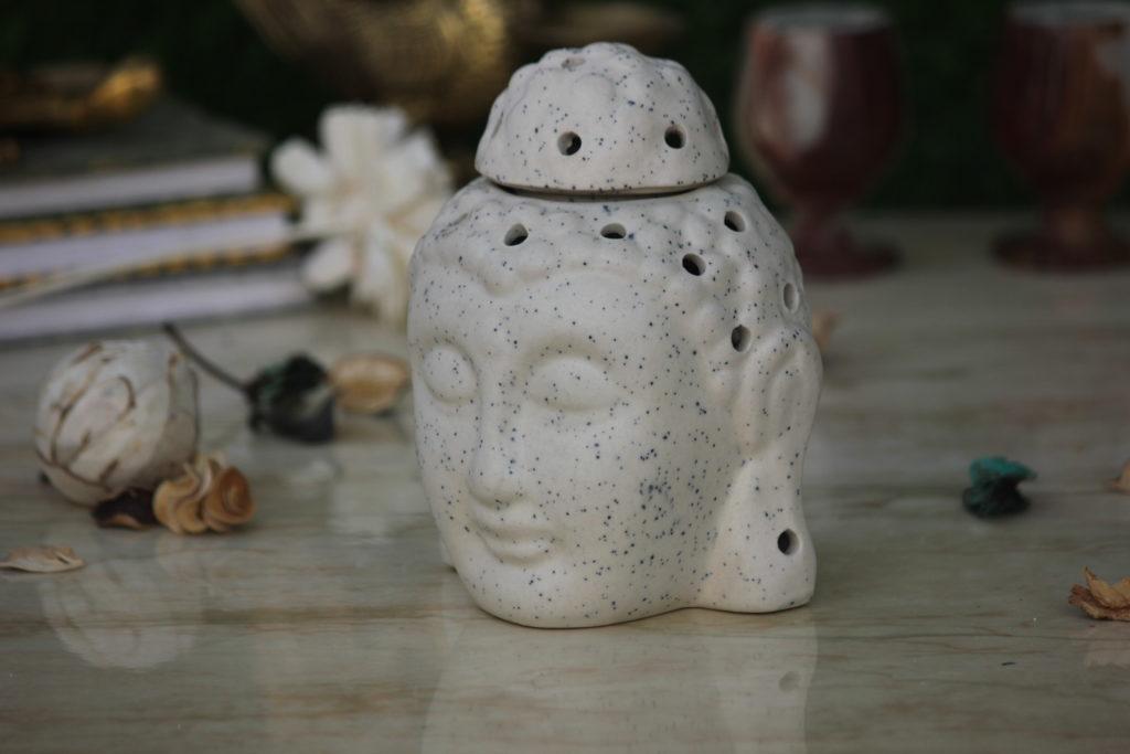 Buddha 5.5Inch White Ceramic Aroma Oil DIffusers